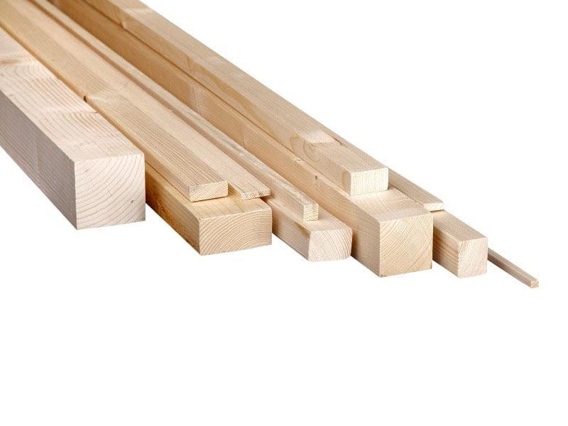 kantówki drewniane strugane