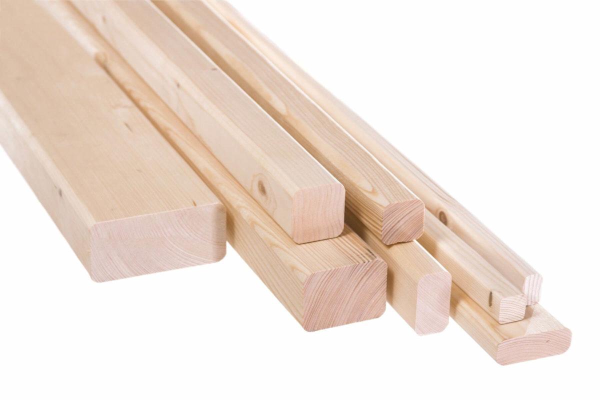 Kantówki drewniane strugane, krawędziaki i legary zaokrąglone - KLASA AB