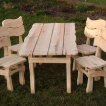 zestaw ogrodowy z drewna